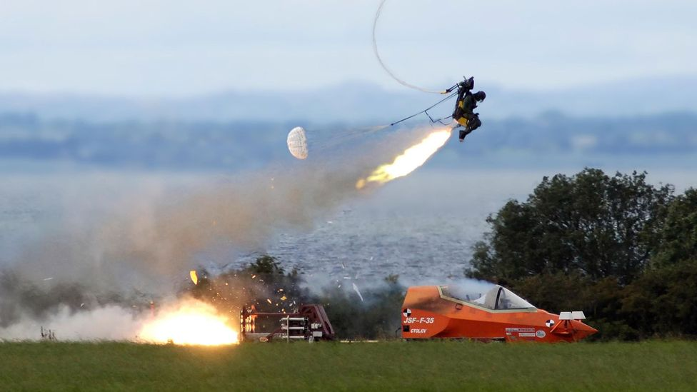 Without ejector seats, pilots run the risk of striking the aircraft tail – with potentially fatal results (Credit: Martin-Baker)