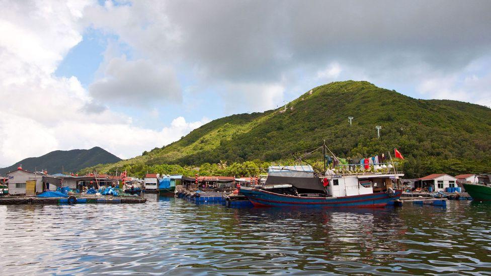 The floating village of Lingshui (Credit: Amanda Ruggeri)