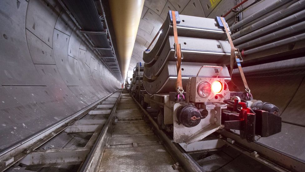 The concrete segments lining the tunnel can weigh up to 3,000kg (Credit: Crossrail)