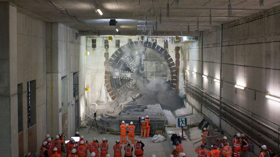 The tunnels will soon be complete – but now a railway line will have to be built (Credit: Crossrail)