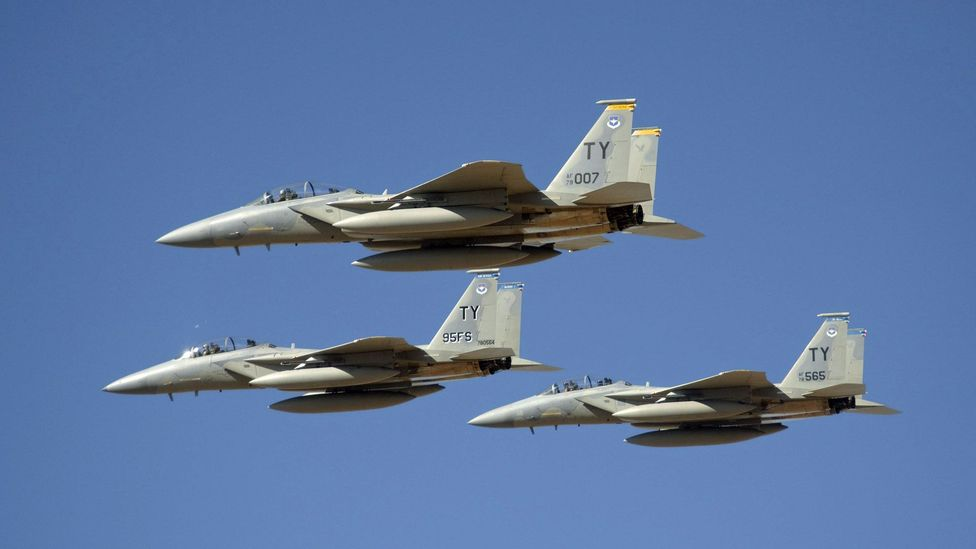 Nasa operates F-15 jets called 'chase planes' to support research missions (Credit: Nasa)