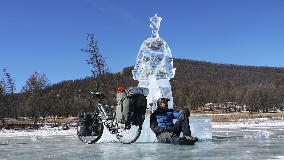 Ice sculptures from Mongolia's annual March Ice Festival (Credit:Stephen Fabes)
