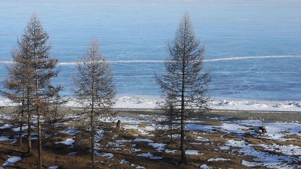 A view frozen Lake Khövsgöl (Credit: Stephen Fabes)