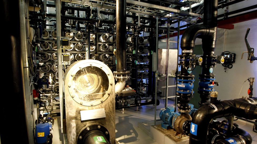 Inside a now-defunct osmotic power plant in Norway (Credit: Getty Images)