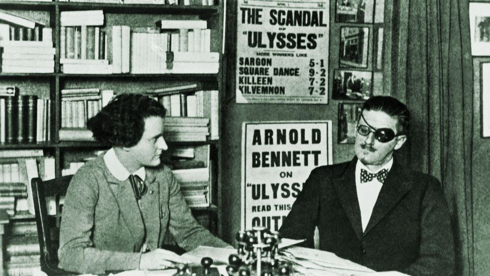 Ulysses was first published in its entirety 1922 in Paris, by the American emigré Sylvia Beech (Credit: Corbis)