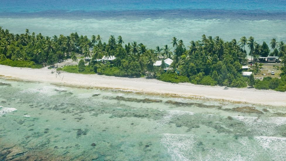 In countries such as Tuvalu, people are already trying to prepare for a future off their islands (Credit: Science Photo Library)