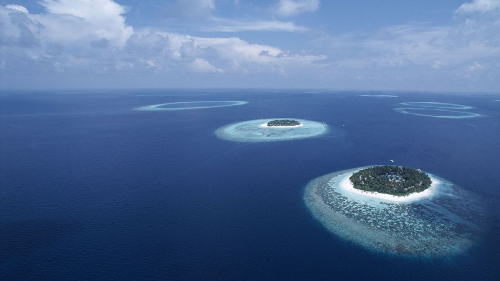 The Maldives are one of a handful of nations that could disappear completely (Credit: Science Photo Library)