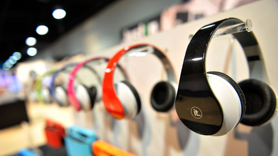 The ability to listen to music on the commute and at work means many of us wear headphones several hours a day (Credit: Getty Images)