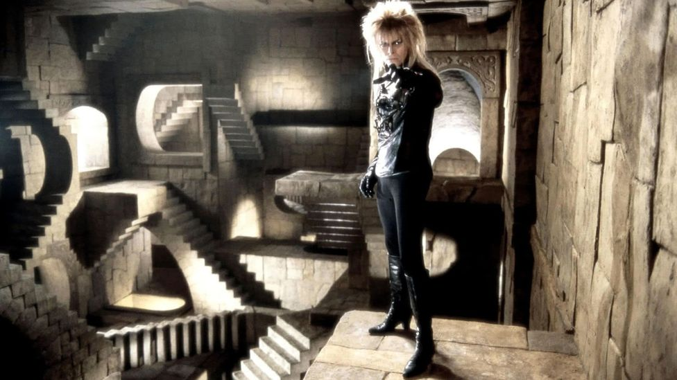 Jim Henson's 1986 film Labyrinth starring David Bowie includes a homage to Relativity (Credit: TriStar Pictures)