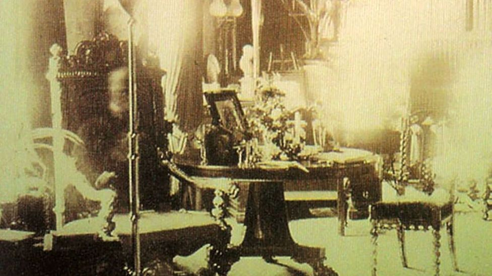 The alleged apparition of Lord Combermere is an example of a long exposure with a person entering the frame long enough to appear in the picture (Credit: Sybell Corbett)