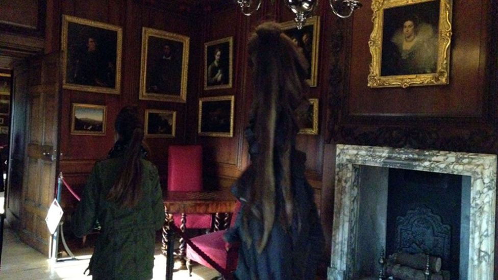 'Ghost photos' still occur today - like this 'sighting' of the Grey Lady of Hampton Court; actually an oddity from an iPhone's imaging capture (Credit: The Sun/News Syndication)