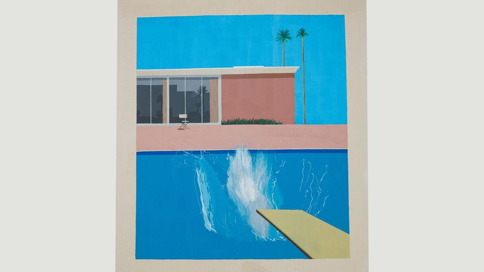 No figures - just foam in David Hockney's A Bigger Spash from 1967 (Credit: David Pearson/Alamy)