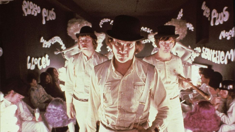 Nadsat, the invented language in A Clockwork Orange, combines elements of Russian and London slang to convey a political message (Credit: Warner Bros)