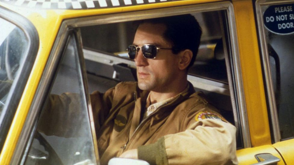 Robert De Niro wore Ray-Ban Caravans, a squarer version of the aviator, in Taxi Driver (Credit: AF archive / Alamy)