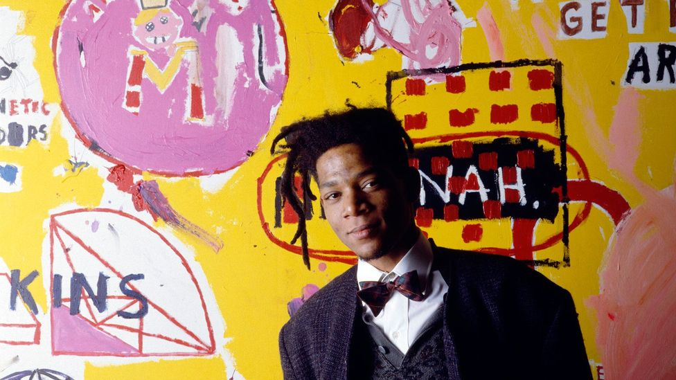 Jean-Michel Basquiat was just 27 in 1988 when this portrait was taken. He died of a heroin overdose later that year (Credit: Julio Donoso/Sygma/Corbis)