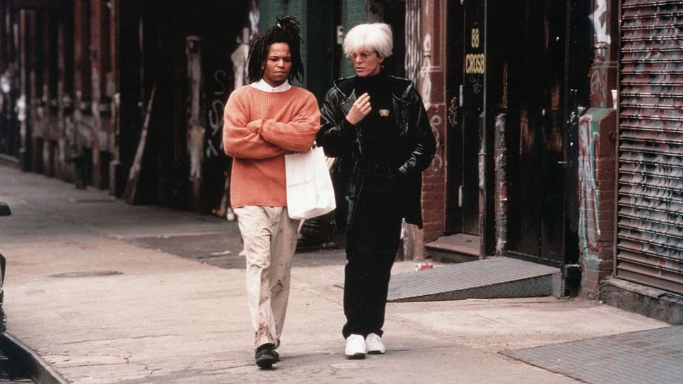 Julian Schnabel's 1996 biopic cemented Basquiat as a figure in popular culture and solidified the legend of his life (Credit: Photos 12/Alamy)