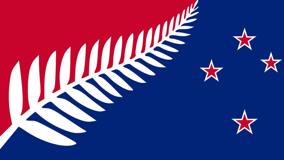 Architectural designer Kyle Lockwood's silver fern flag design is the preferred choice of New Zealand's prime minister (Credit: Kyle Lockwood)