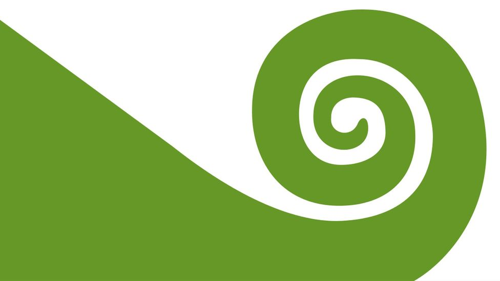 Austrian artist Friedensreich Hundertwasser's 1983 Koru Flag reflects the culture he experienced in his adoptive country (Credit: Friedensreich Hundertwasser)