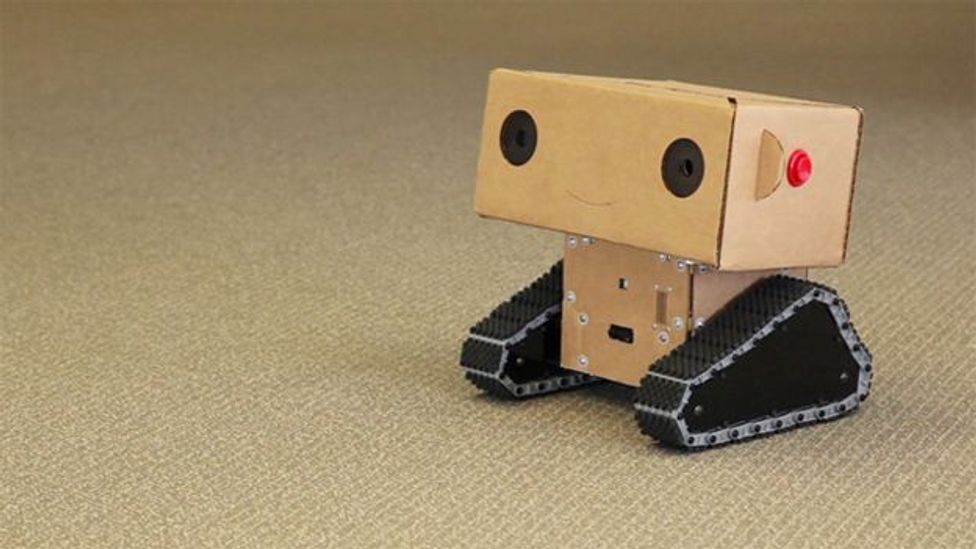 Boxie the robot asked simple questions and got intriguing answers (Credit: Alexander Reben)