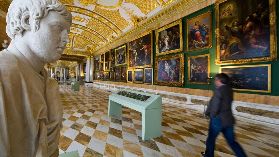 Galleries of the 18th Century housed the art collections of royalty – like that of Frederick the Great at Sanssouci Palace in Potsdam – but had no public function (Credit: Alamy)
