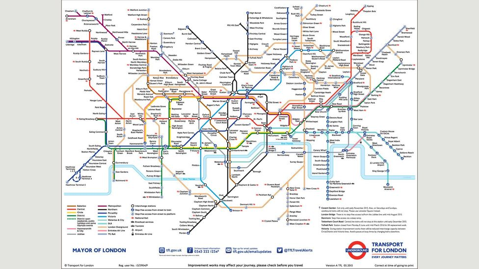 The current design, nearly 85 years after it was first conceived (Credit: TfL Maps)