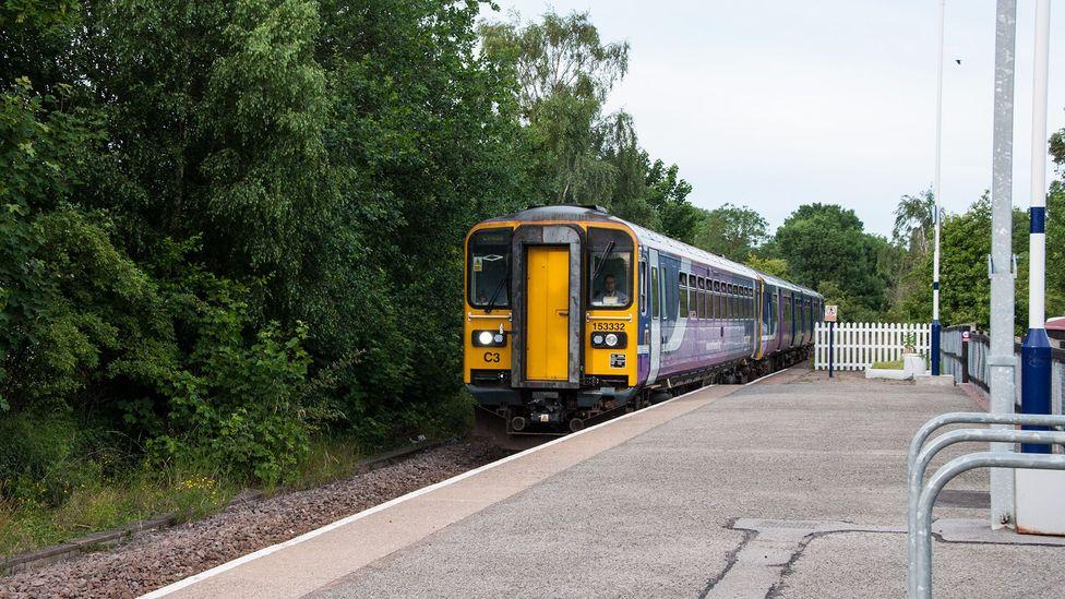 A 'ghost train' pulls into Snaith's station (Credit: Amanda Ruggeri)