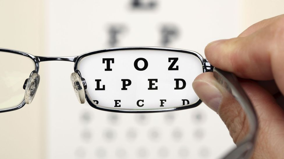 Eye charts test our ability to see the black and white differences that form a letter (Credit: Thinkstock)