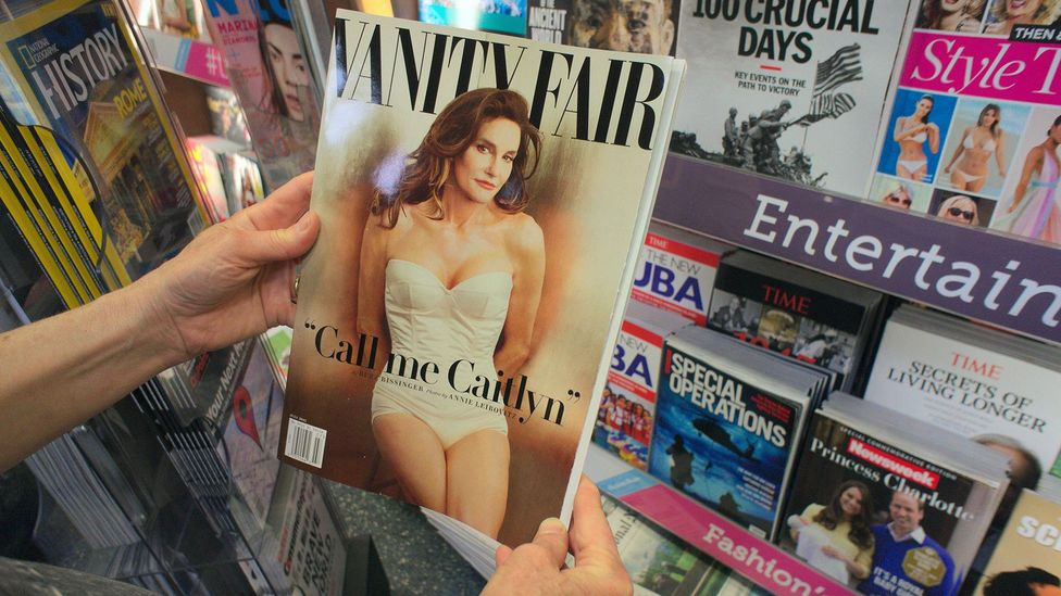 Caitlyn Jenner's appearance on the cover of Vanity Fair in June 2015 prompted a social media sensation and promoted a discussion of trans issues (Credit: Alamy)