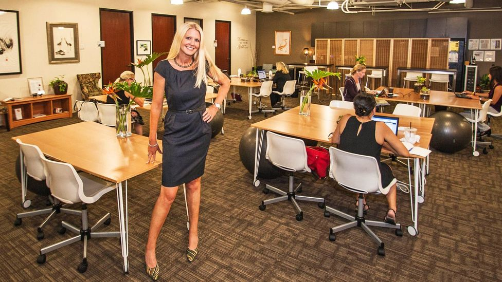 Felena Hanson, founder of Hera Hub, which has opened shared work spaces in the US, with plans to expand to the Middle East. (Credit: Natalia Robert/Full Circle Images)