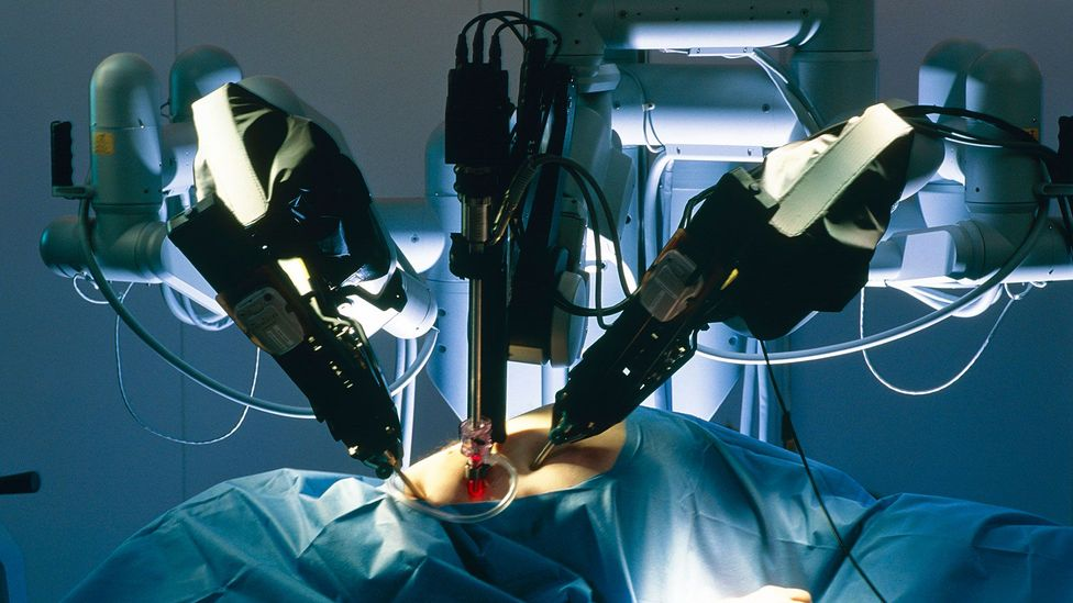 Robot surgeons such as the da Vinci system can act as a doctor's hands - though they may lack a good bedside manner (Credit: Science Photo Library)