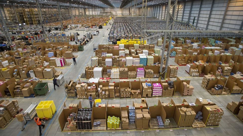 Workers in Peterborough prepare for 'Cyber Monday', the busiest online shopping day of the year (Credit: Rex)