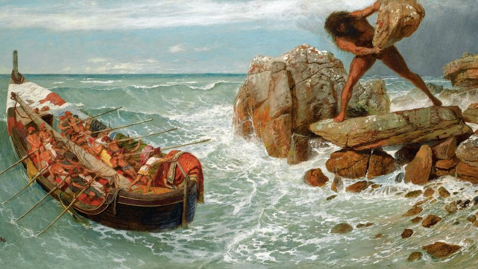 Ancient tales not only depicted the struggles of heroes, but of villains too – such as Polyphemus, brought to terrifying life by Swiss artist Arnold Böcklin (Credit: Wikipedia)