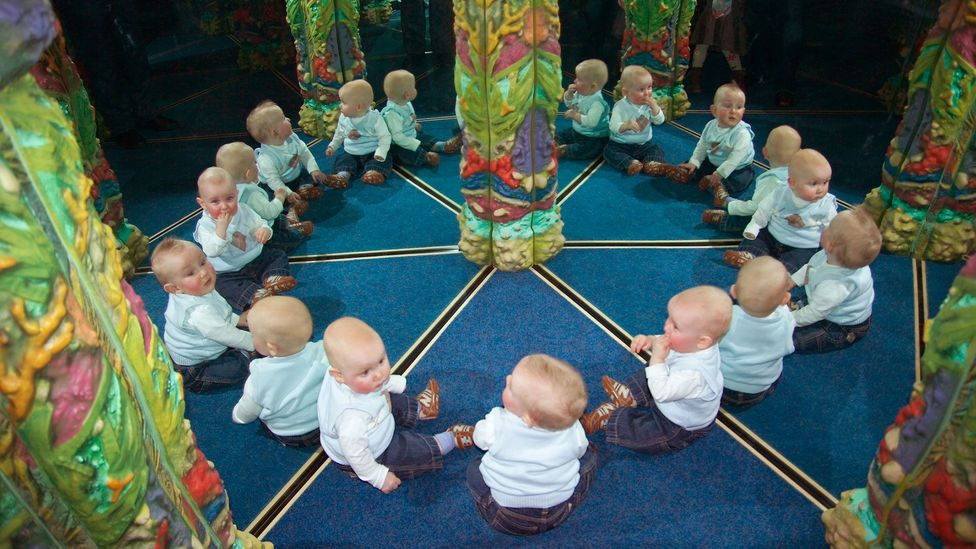 One of Fisher's many mirror mazes, this one – since removed – was at the Birmingham Sea Life Centre (Credit: Adrian Fisher/Adrian Fisher Design)