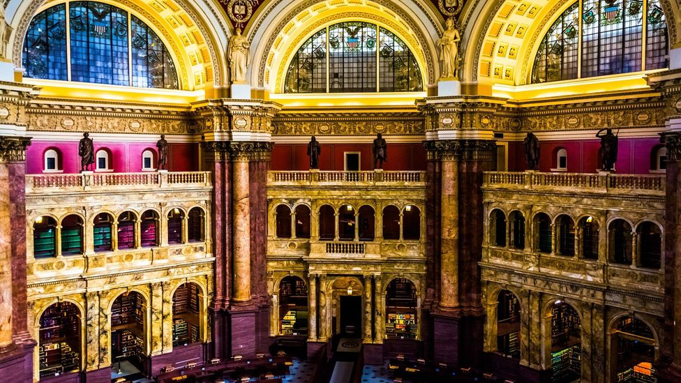 The Main Reading Room, Library of Congress in Washington, DC