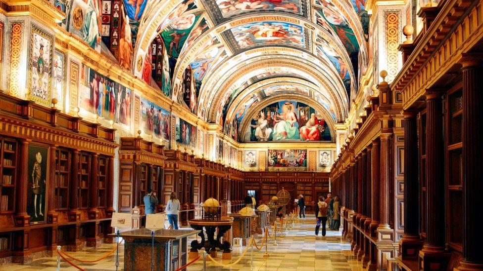 El Escorial Library in Madrid