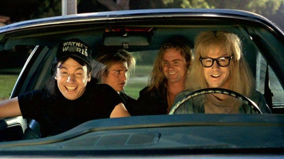 The song re-entered the charts in 1992 after its starting role in the hit film Wayne's World (Credit: Paramount Pictures)