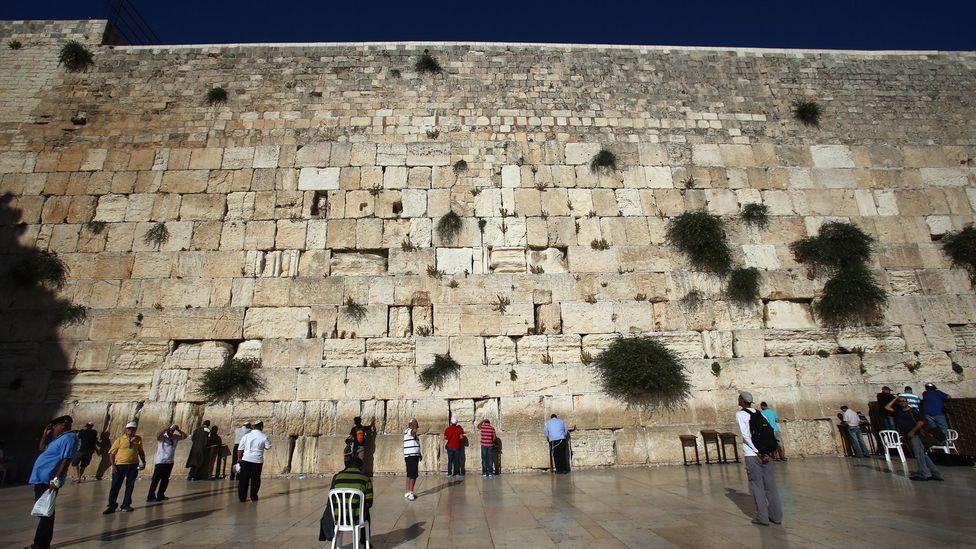 People pray at Jerusalem's Western Wall (Credit: Alex Grimm/Getty)