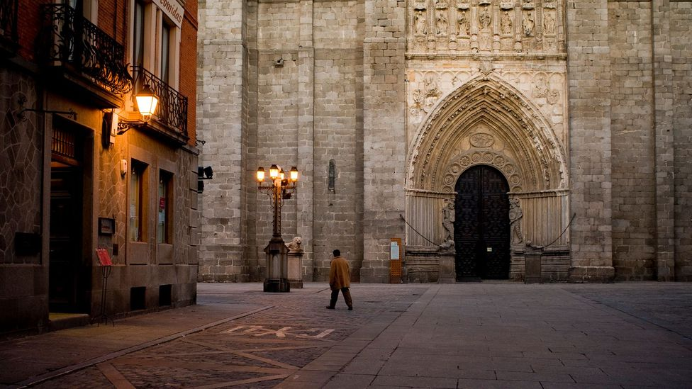 Ávila's Cathedral Square at dusk (Credit: JMN/Getty)