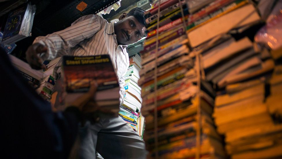 Stacks of books in an Indian store (Credit: AFP/Getty)