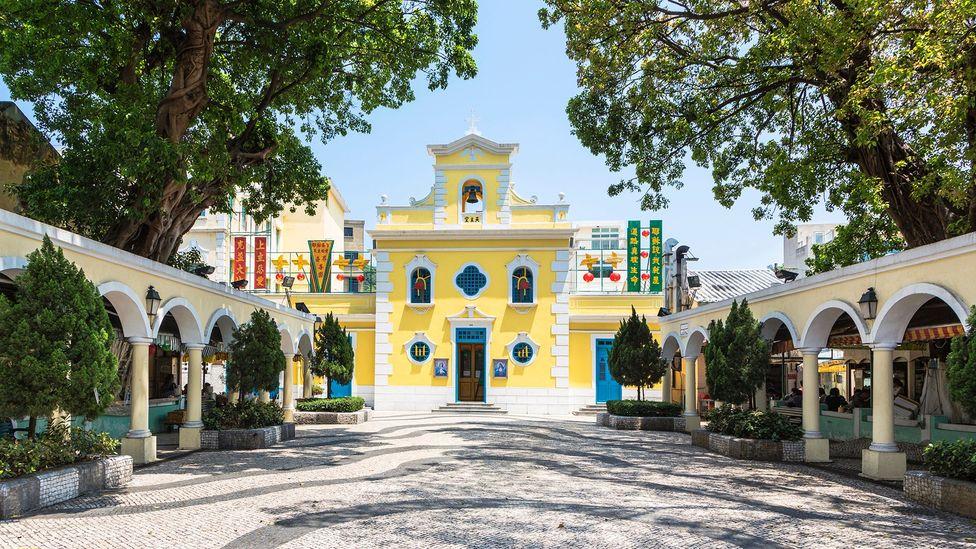 St. Francis Xavier Church in colourful Coloane (Credit: AsianDream/iStock)
