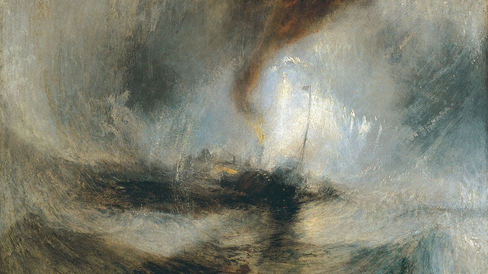 JMW Turner, Snow Storm: Steam-Boat off a Harbour's Mouth, 1842 - Turner said the variability of English weather was prime subject matter for artists (Credit: JMW Turner)
