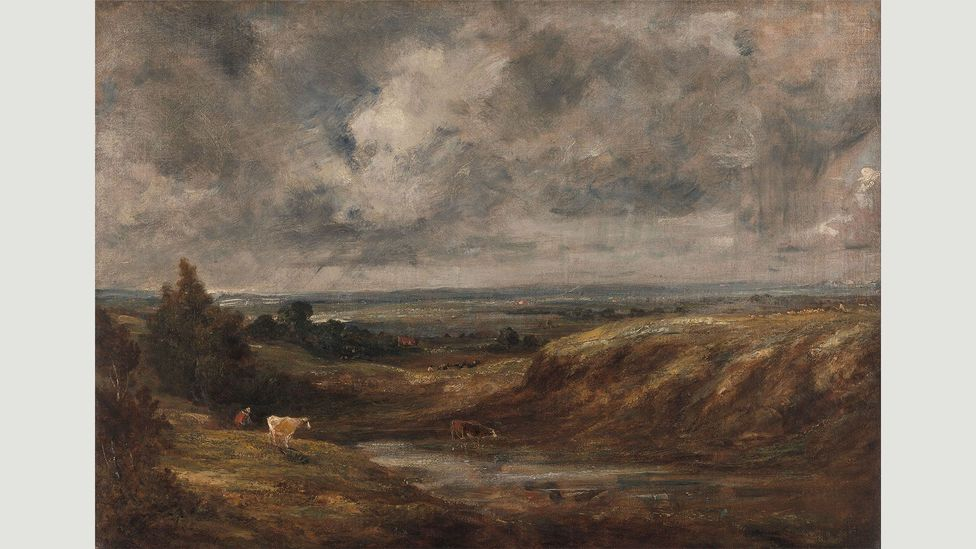 John Constable, Hampstead Heath 1825-1830 - In 1821-22 Constable spent a great deal of time on Hampstead Heath, painting studies of cloud formations (Credit: John Constable)