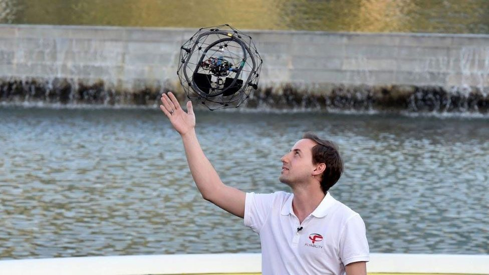 Flyability's collision-resistant drone took the top prize (Credit: Drones for Good)