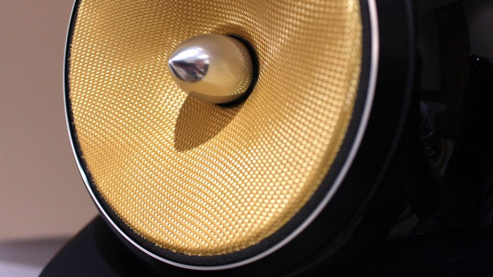 Up close with a Bowers & Wilkins speaker (Credit: Chris Baraniuk)