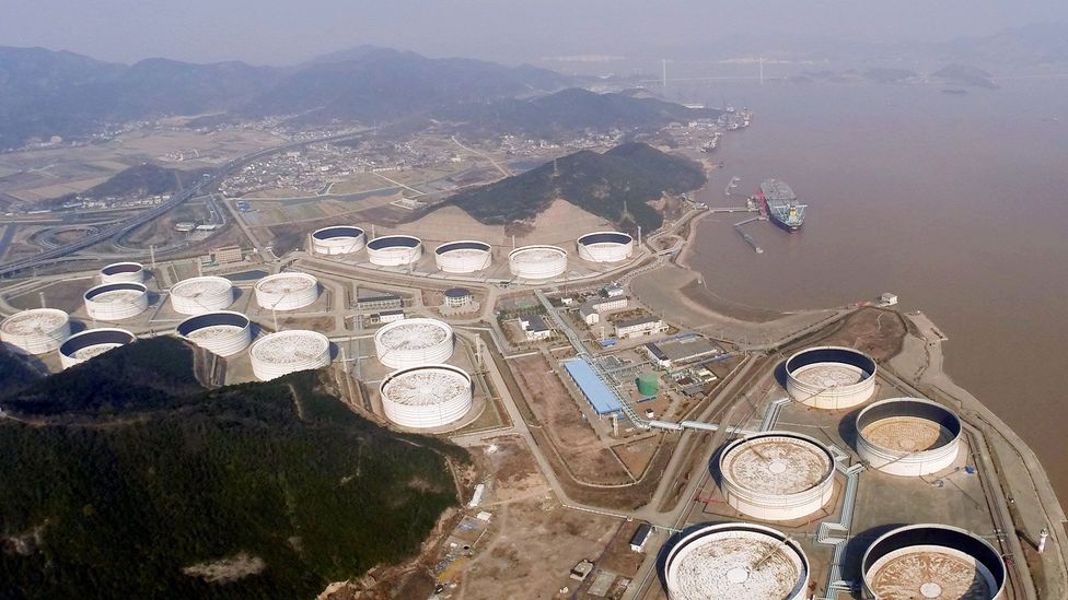 The Chinese have opted for storage above ground in tanks, as the geology is less suitable (Credit: Corbis)