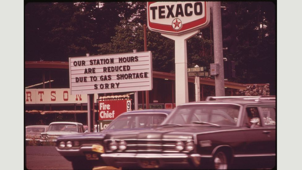US service stations quickly struggled to meet demand (David Falconer/The US National Archives/Flickr)