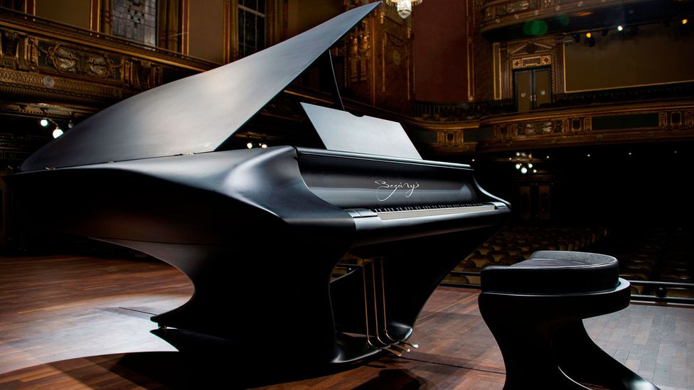 Pianist Gergely Bogányi – who has objected to the poor quality of concert hall pianos – commissioned this instrument to correct pianos' design  flaws (Credit: Lázsló Járai)