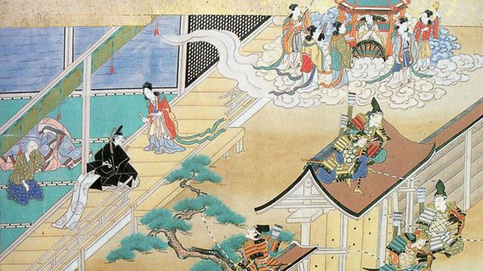 The Tale of the Bamboo Cutter is one of the earliest stories of aliens with human characteristics (Credit: Taketori Monogatari / Wikipedia)