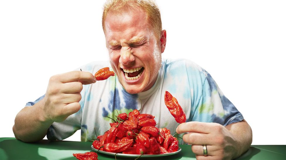 "Jason McNabb is a champion chilli-eater and describes it as ""pure hell"" (Credit: Guinness World Records)"
