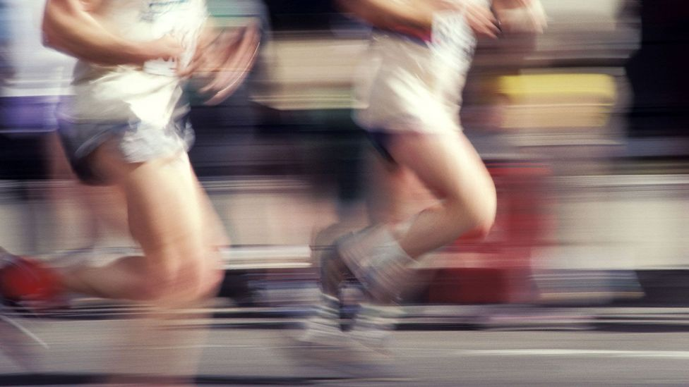 Runners get a high after a long workout, but what's going on in the brain? (Credit: Thinkstock)